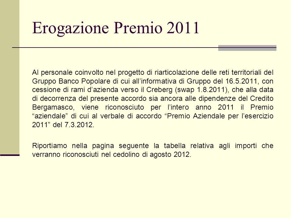 Erogazione Premio 2011