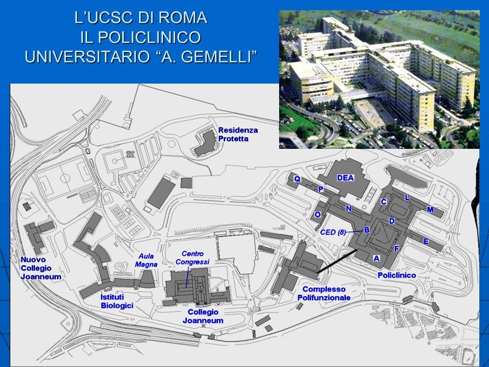 L'UCSC DI ROMA IL POLICLINICO UNIVERSITARIO A. GEMELLI
