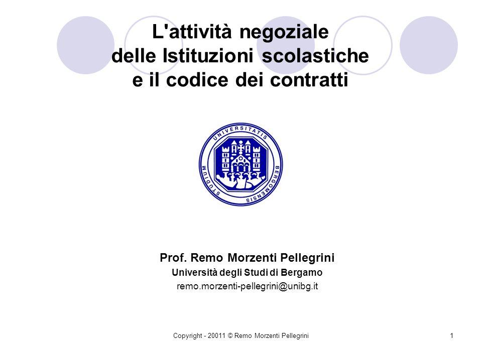 Prof. Remo Morzenti Pellegrini Università degli Studi di Bergamo