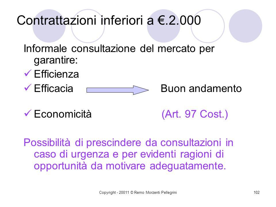 Contrattazioni inferiori a €.2.000