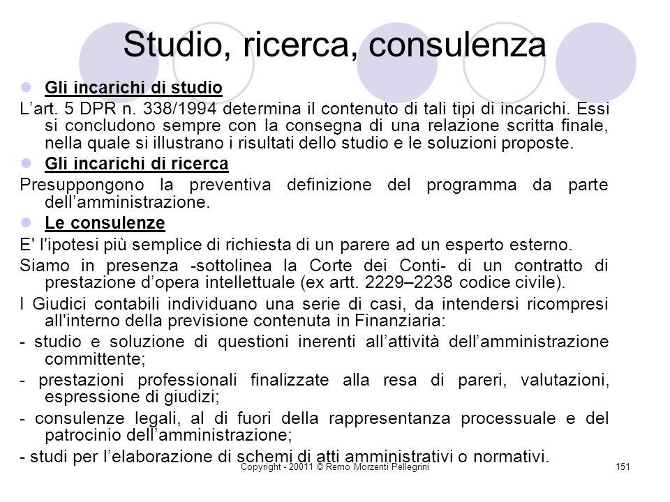 Studio, ricerca, consulenza