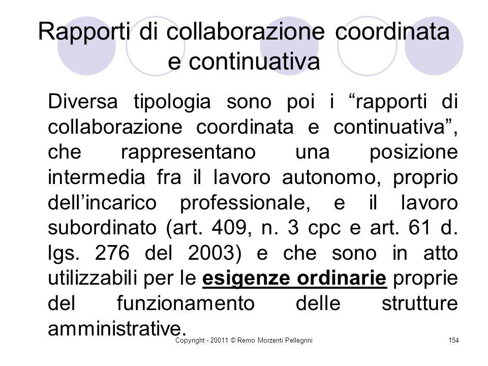 Rapporti di collaborazione coordinata e continuativa