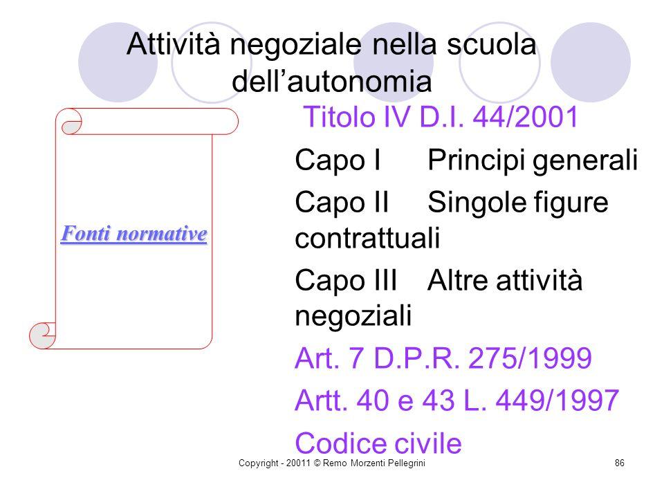 Attività negoziale nella scuola dell'autonomia