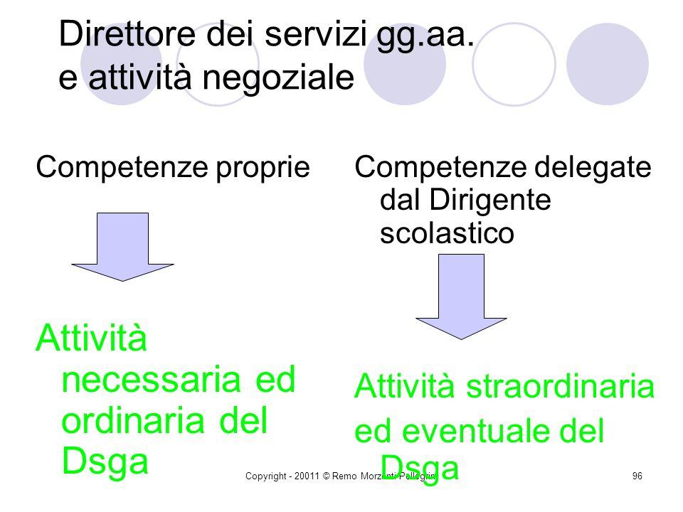 Direttore dei servizi gg.aa. e attività negoziale
