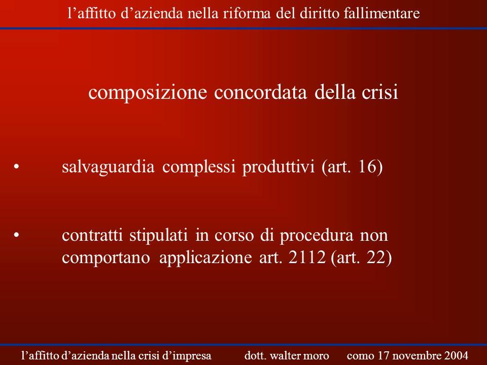 composizione concordata della crisi