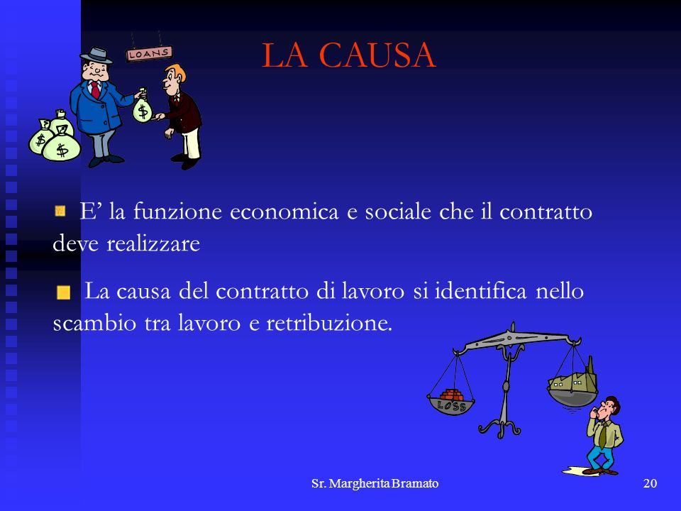 LA CAUSA E' la funzione economica e sociale che il contratto deve realizzare.