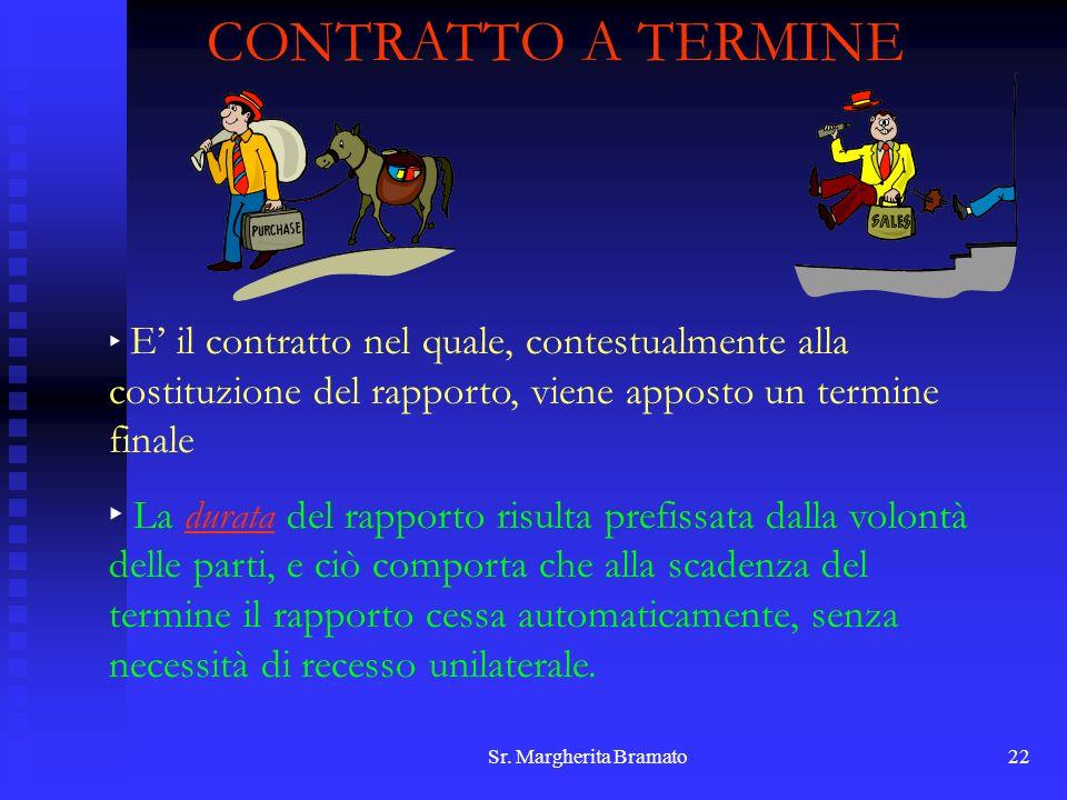 CONTRATTO A TERMINE E' il contratto nel quale, contestualmente alla costituzione del rapporto, viene apposto un termine finale.