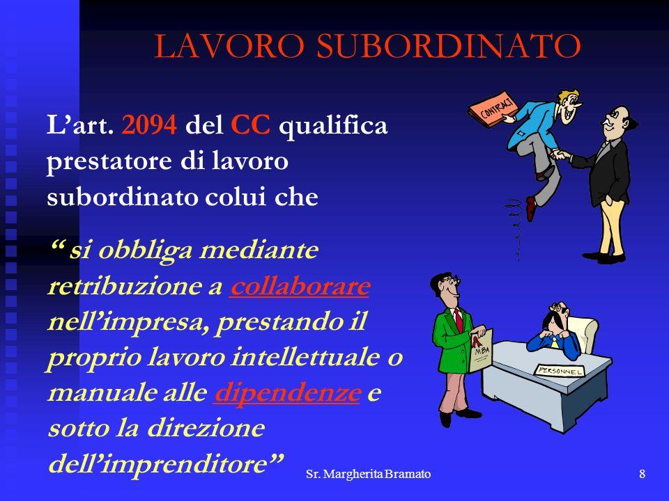 LAVORO SUBORDINATOL'art. 2094 del CC qualifica prestatore di lavoro subordinato colui che.
