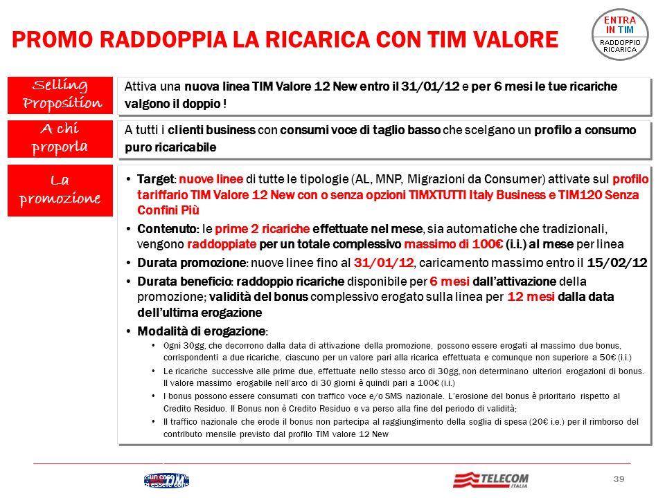 PROMO RADDOPPIA LA RICARICA CON TIM VALORE