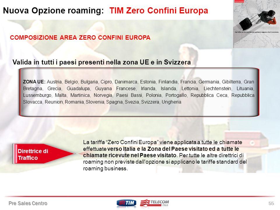 Nuova Opzione roaming: TIM Zero Confini Europa