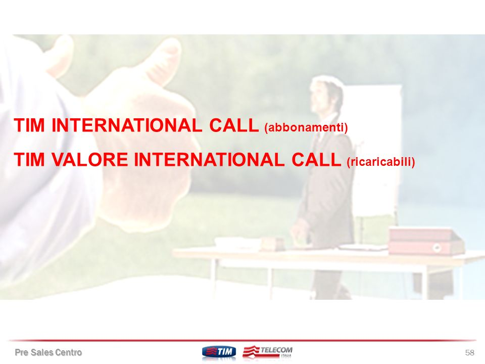 TIM INTERNATIONAL CALL (abbonamenti)