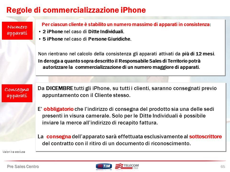 Regole di commercializzazione iPhone