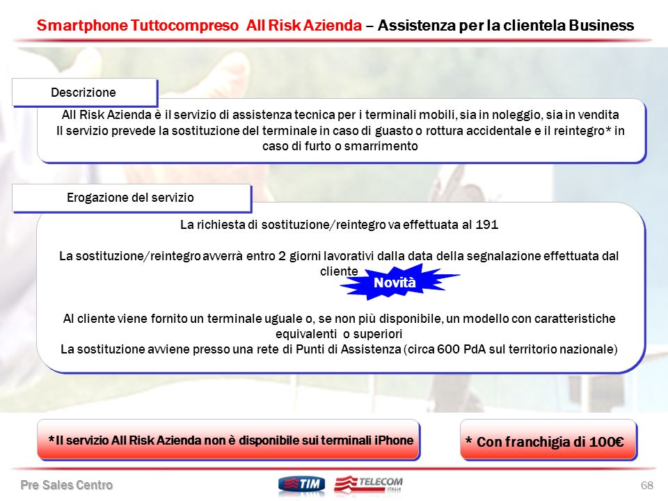 Smartphone Tuttocompreso All Risk Azienda – Assistenza per la clientela Business