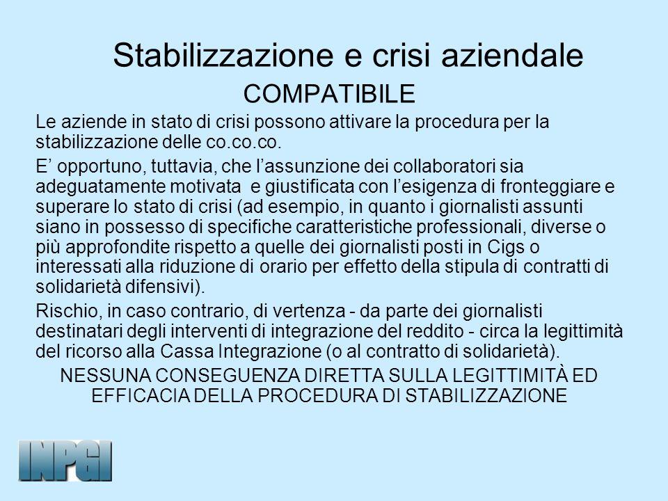 Stabilizzazione e crisi aziendale