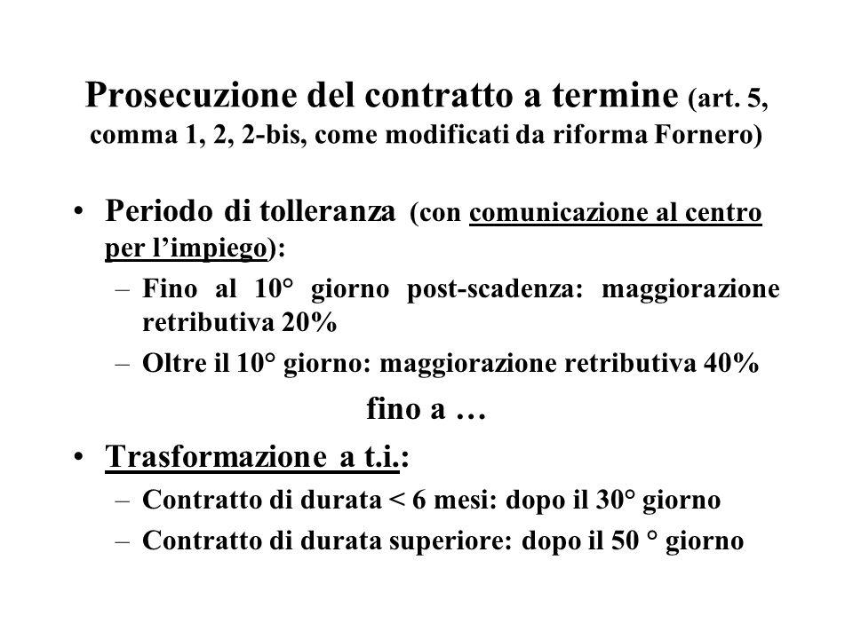 Prosecuzione del contratto a termine (art