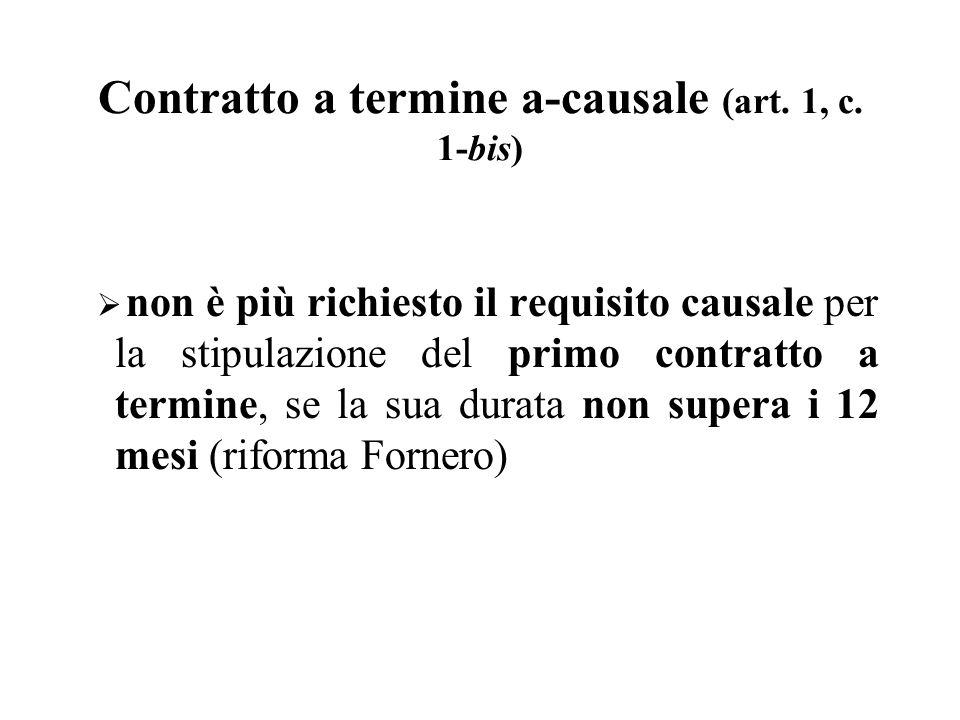 Contratto a termine a-causale (art. 1, c. 1-bis)