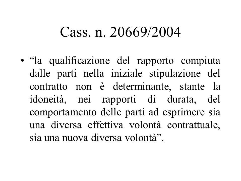 Cass. n. 20669/2004