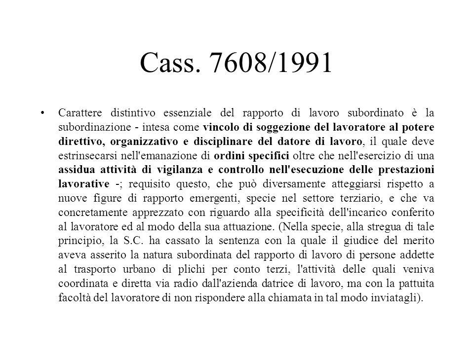 Cass. 7608/1991