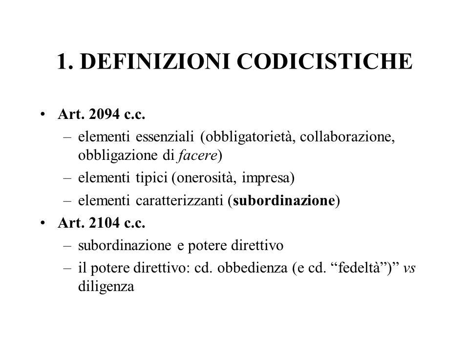 1. DEFINIZIONI CODICISTICHE