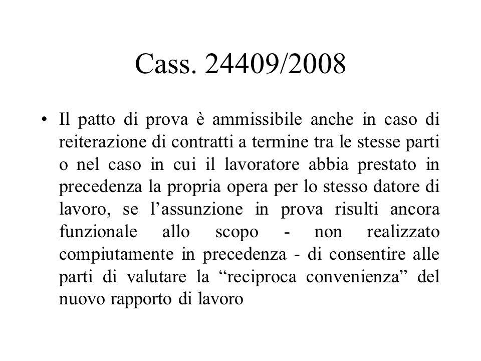Cass. 24409/2008