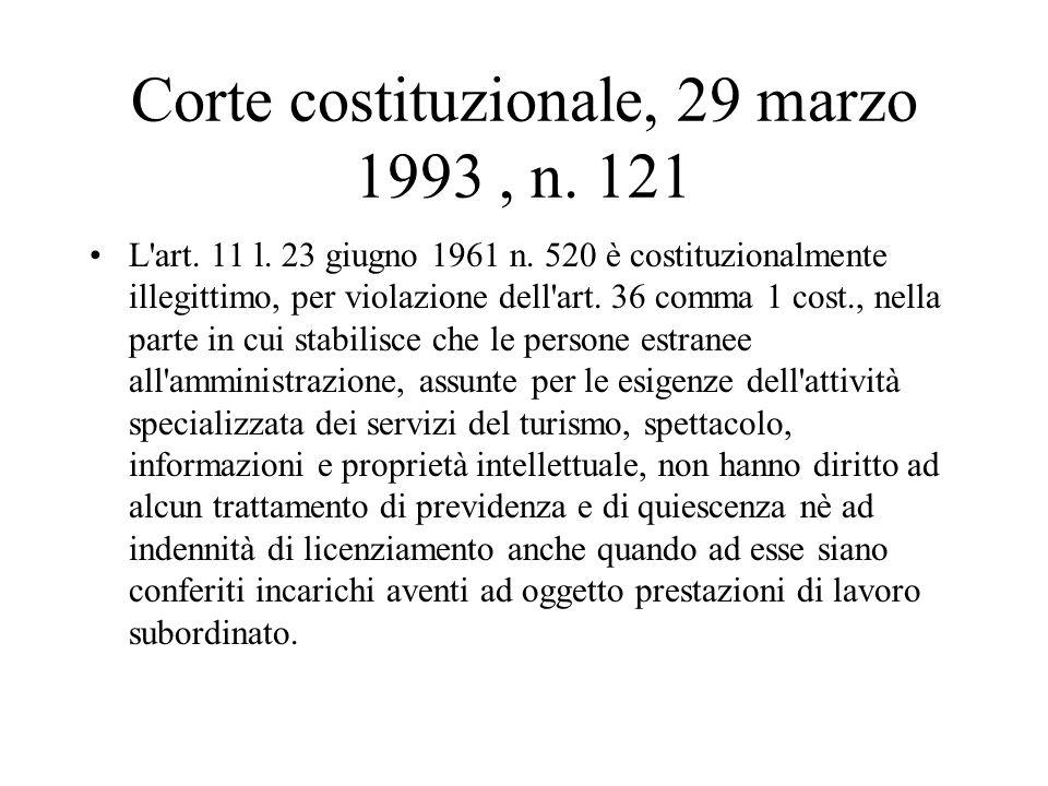 Corte costituzionale, 29 marzo 1993 , n. 121