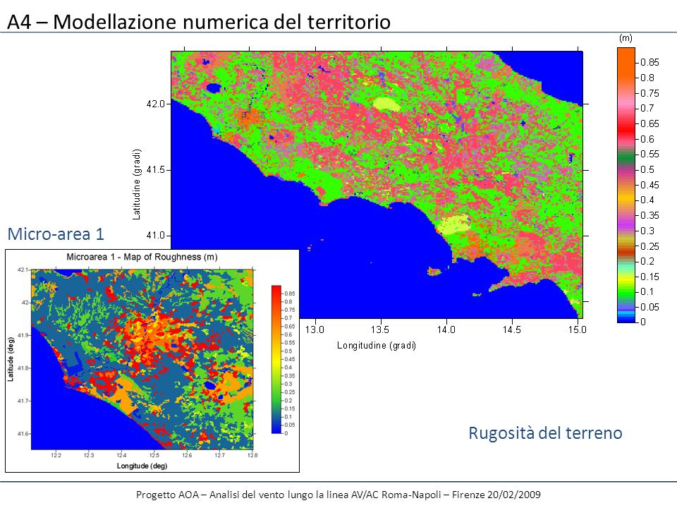 A4 – Modellazione numerica del territorio