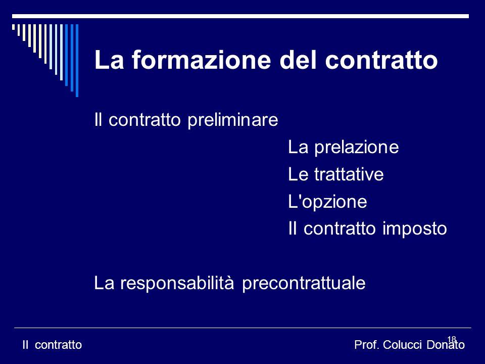 La formazione del contratto