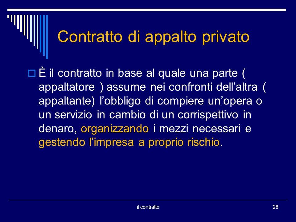 Contratto di appalto privato
