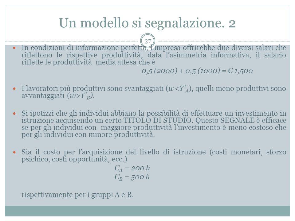Un modello si segnalazione. 2