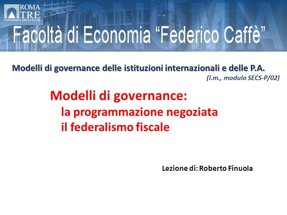 Modelli di governance: