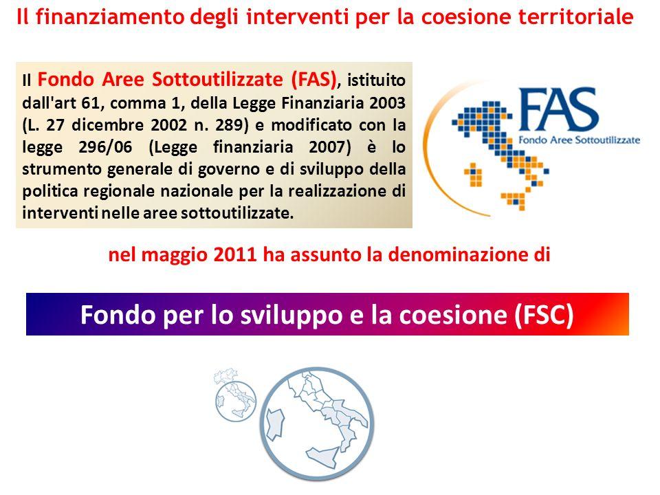Fondo per lo sviluppo e la coesione (FSC)