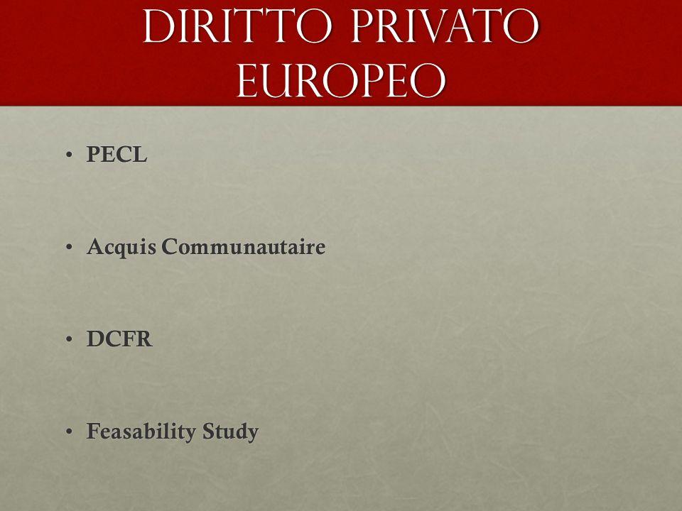 Diritto privato europeo