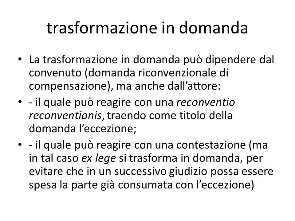 trasformazione in domanda