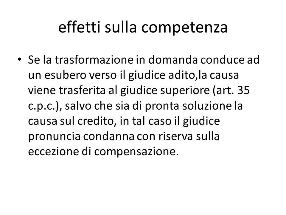 effetti sulla competenza
