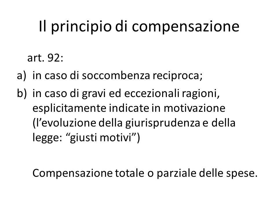 Il principio di compensazione