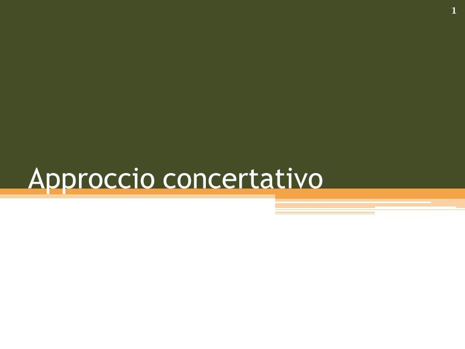 Approccio concertativo