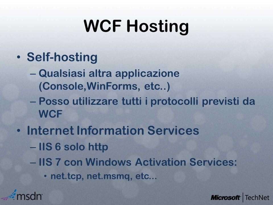 WCF Hosting Self-hosting Internet Information Services