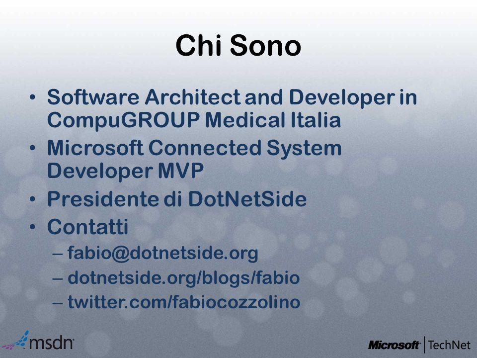 Chi Sono Software Architect and Developer in CompuGROUP Medical Italia