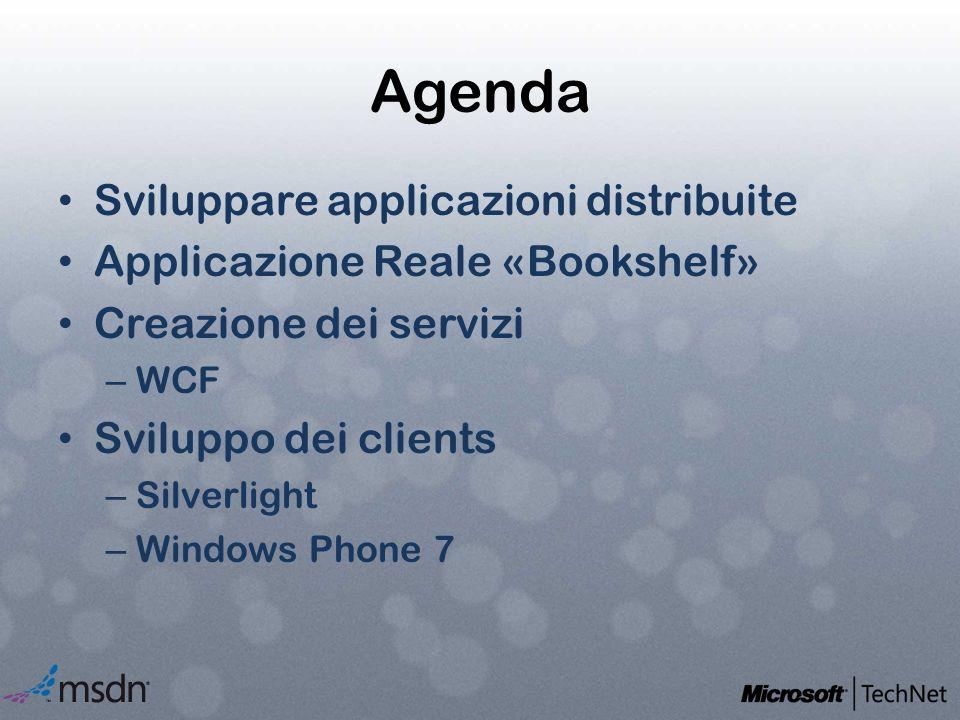 Agenda Sviluppare applicazioni distribuite