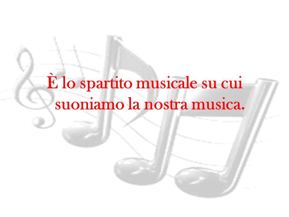 È lo spartito musicale su cui suoniamo la nostra musica.