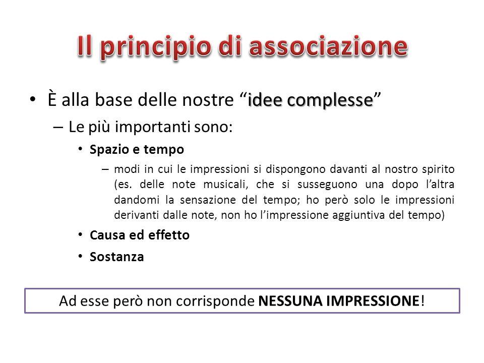 Il principio di associazione