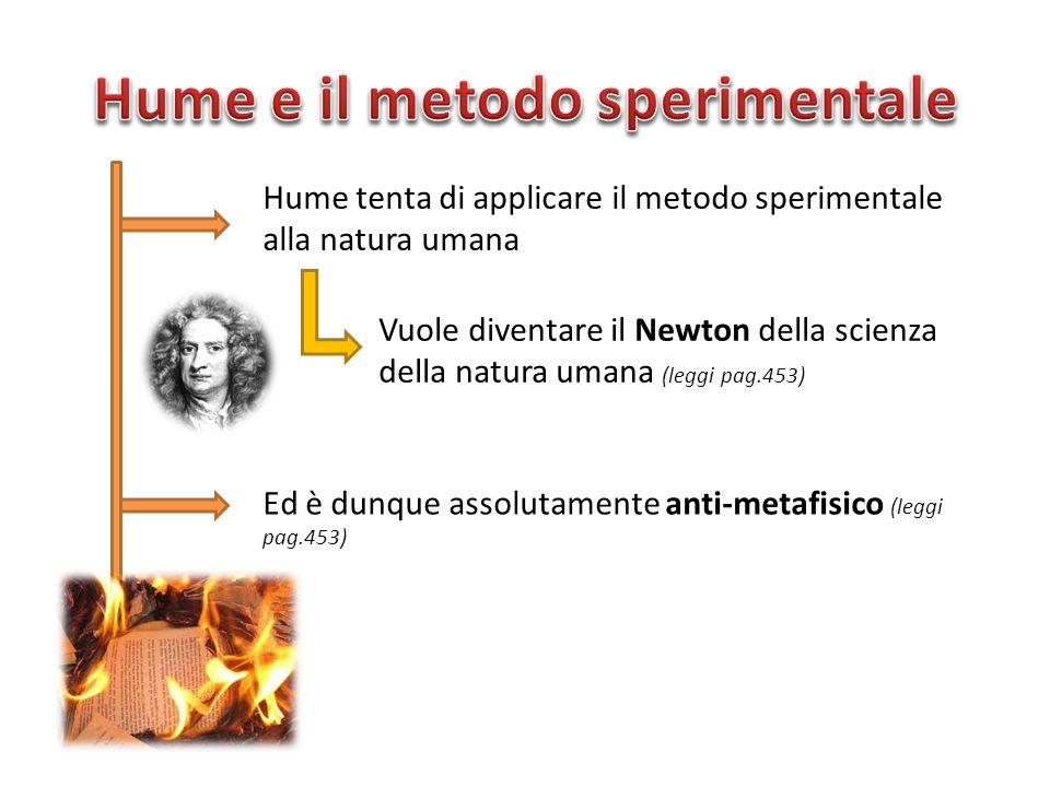 Hume e il metodo sperimentale