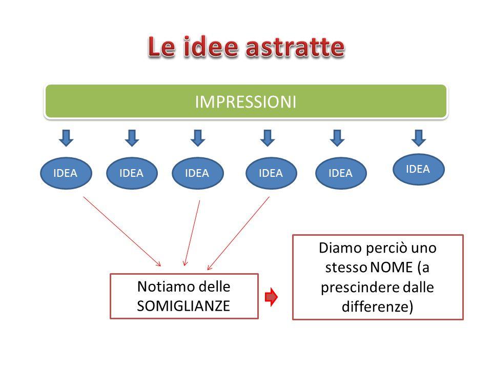 Le idee astratte IMPRESSIONI