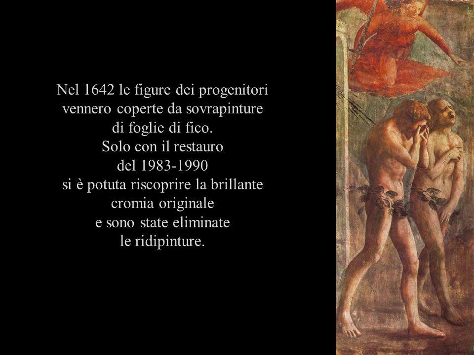 Nel 1642 le figure dei progenitori vennero coperte da sovrapinture