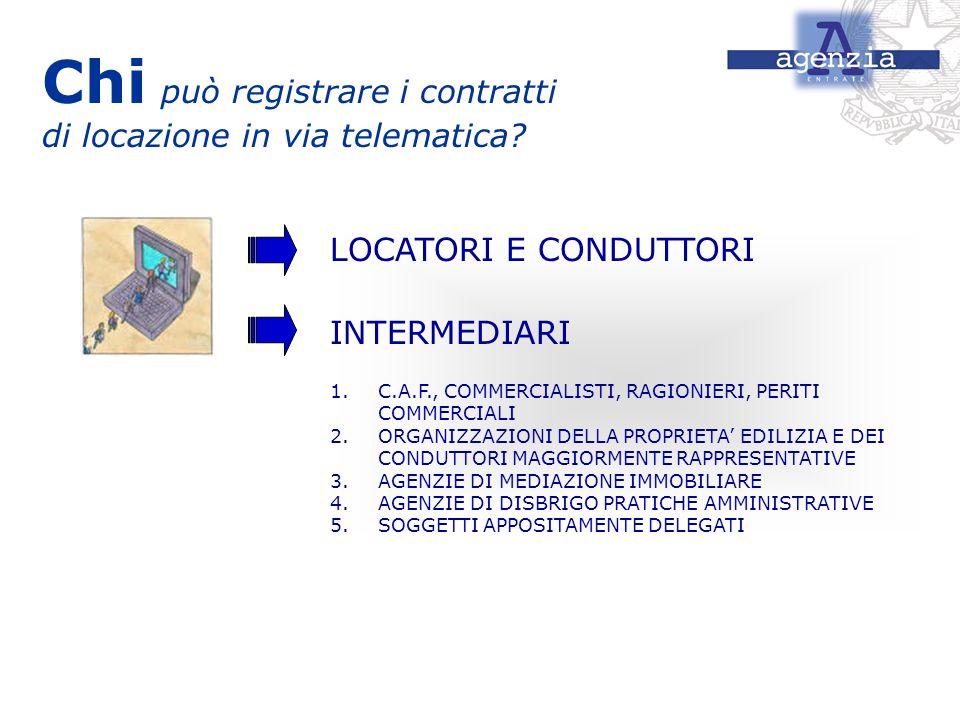 Chi può registrare i contratti di locazione in via telematica