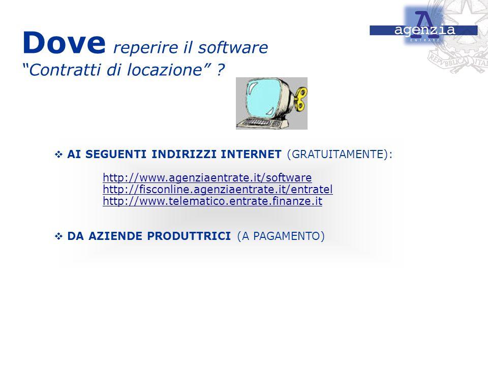 Dove reperire il software Contratti di locazione
