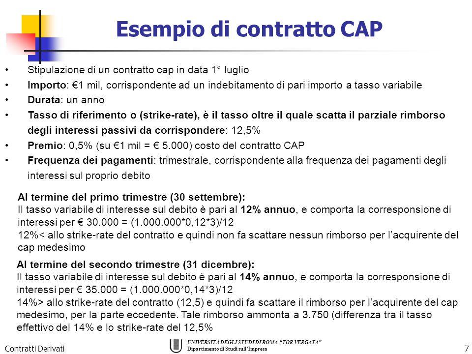 Esempio di contratto CAP