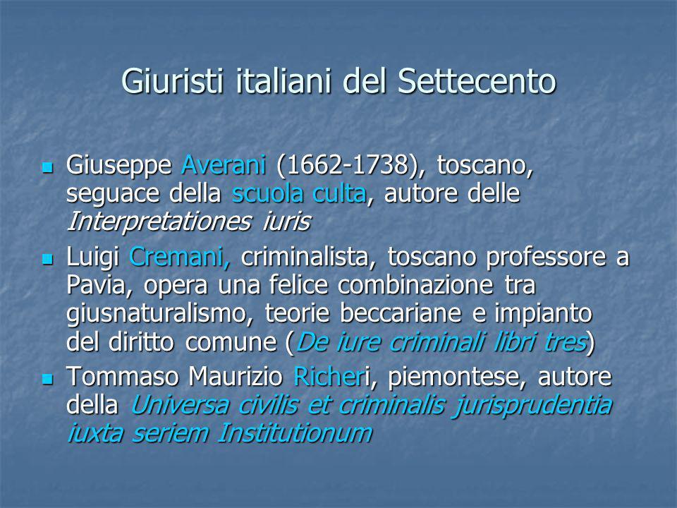 Giuristi italiani del Settecento