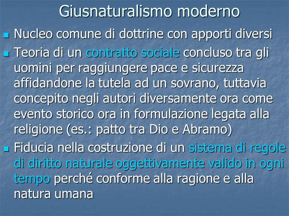 Giusnaturalismo moderno