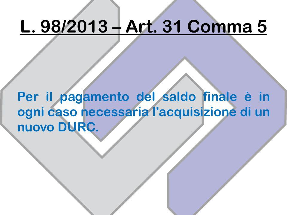 L. 98/2013 – Art.